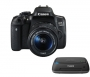 Canon EOS 750D + EF-S 3,5-5,6/18-55 mm IS STM + Connect Station